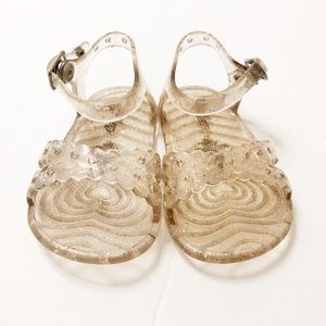 Gold Jelly Sandals - Baby Girl